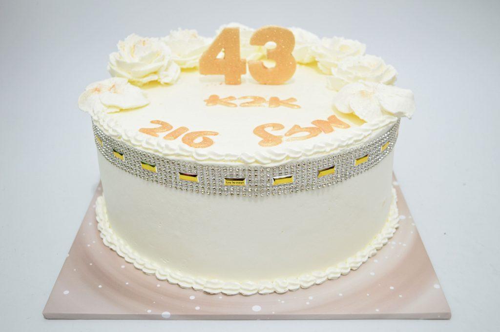 עוגה מעוצבת ליום הולדת 43