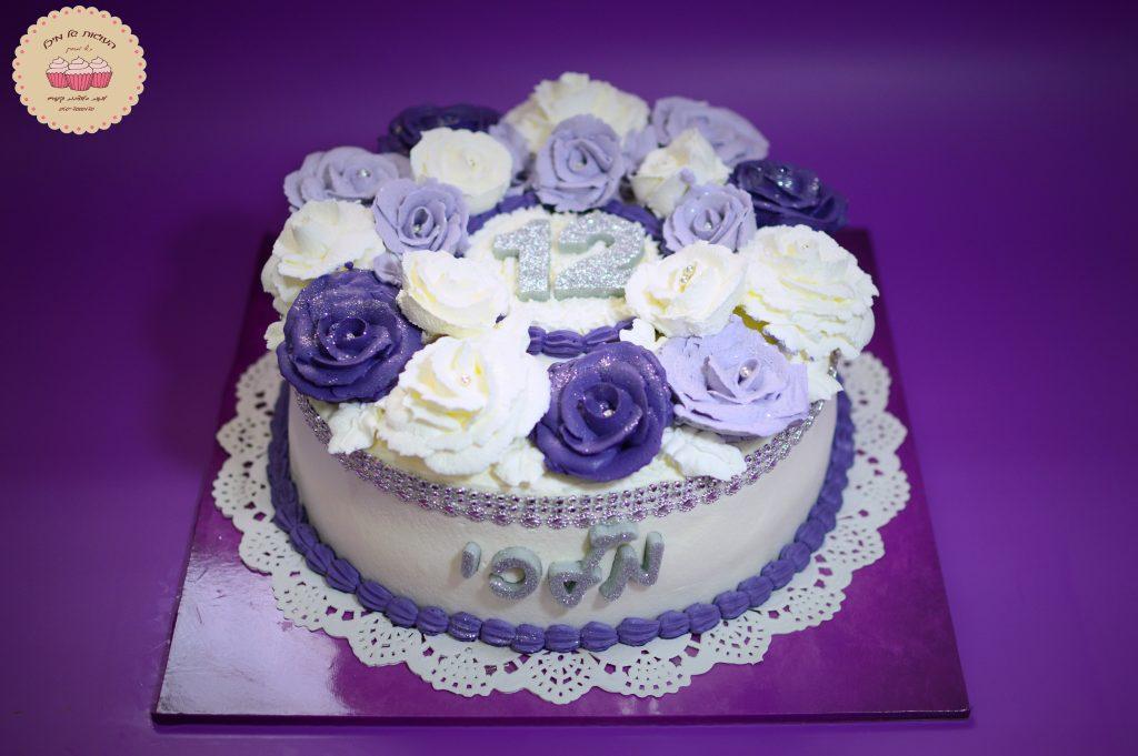 עוגת בת מצווה זילוף