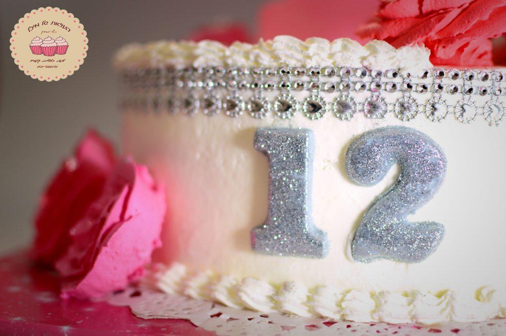 עוגת בת מצווה שושנים ורודות