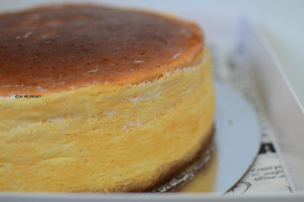 עוגת גבינה אפויה גבוהה