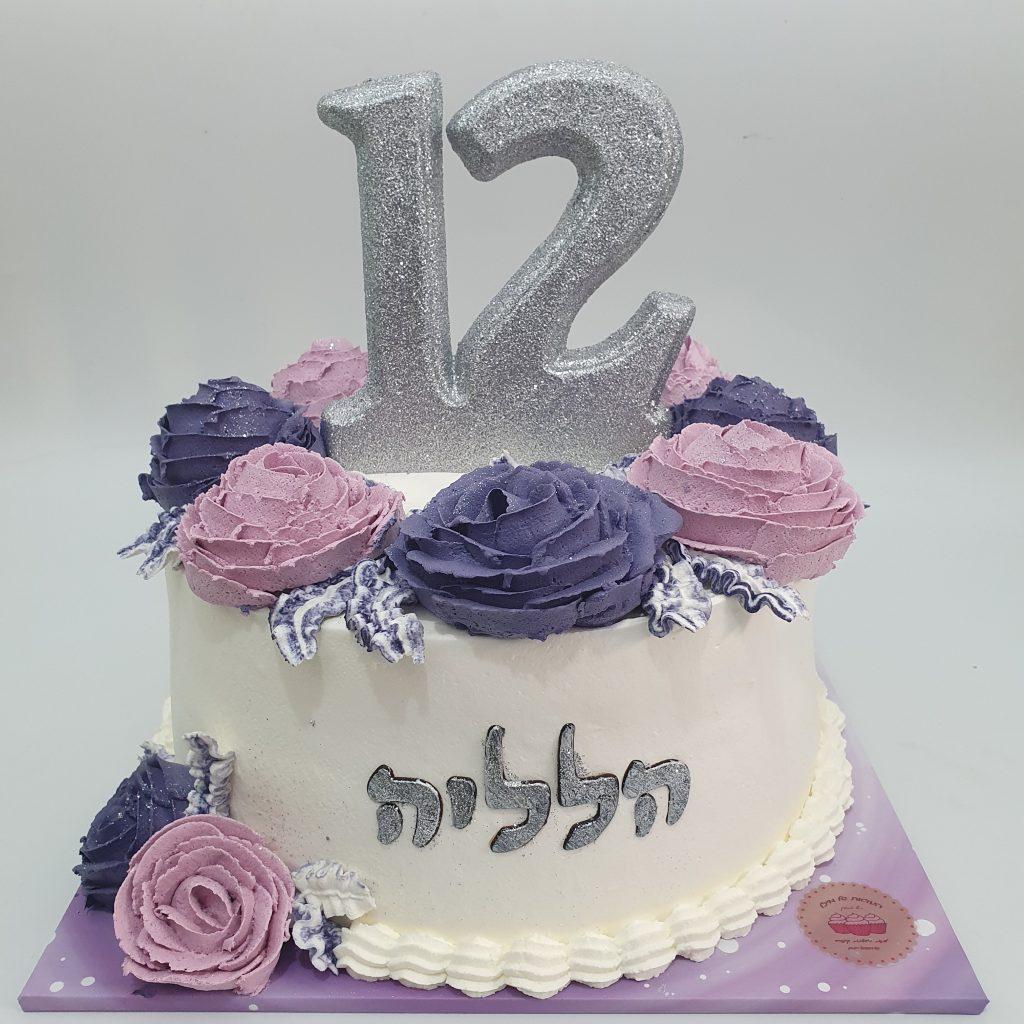 עוגת בת מצווה פרחונית