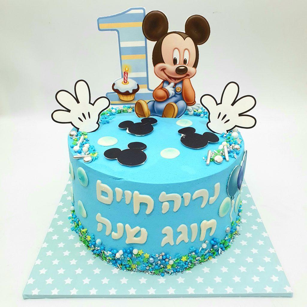 עוגת מיקי מאוס גיל שנה