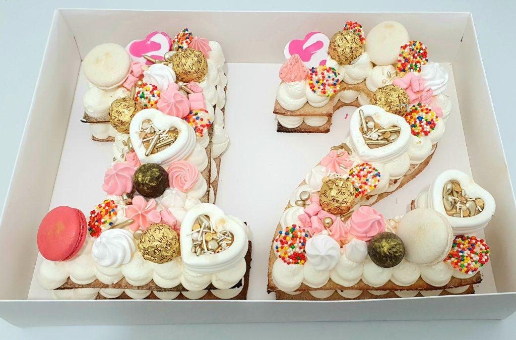 עוגת בת מצווה מיוחדת בצק שקדים